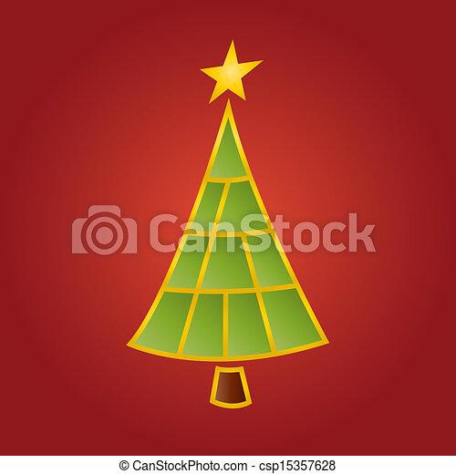 Modern Christmas tree - csp15357628