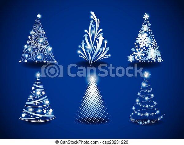 Modern Christmas trees - csp23231220