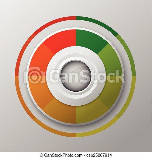 modern circle button design - csp25267914