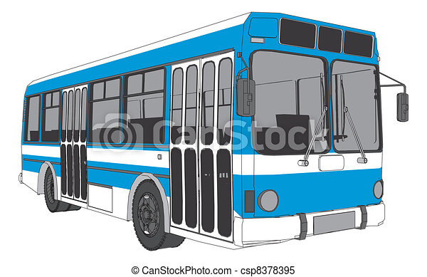 Modern City Bus - csp8378395