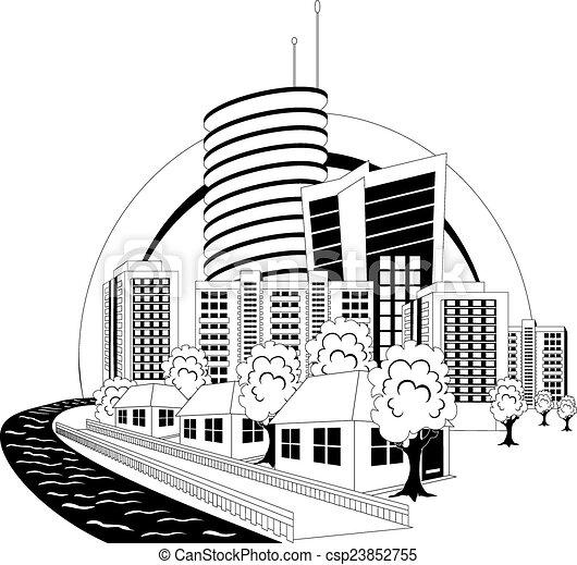 Modern city - csp23852755