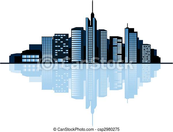 Modern city - csp2980275