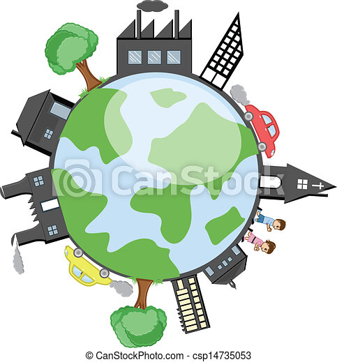 modern city earth vector drawing art of buildings trees and rh canstockphoto com modern clipart borders modern clip art designs