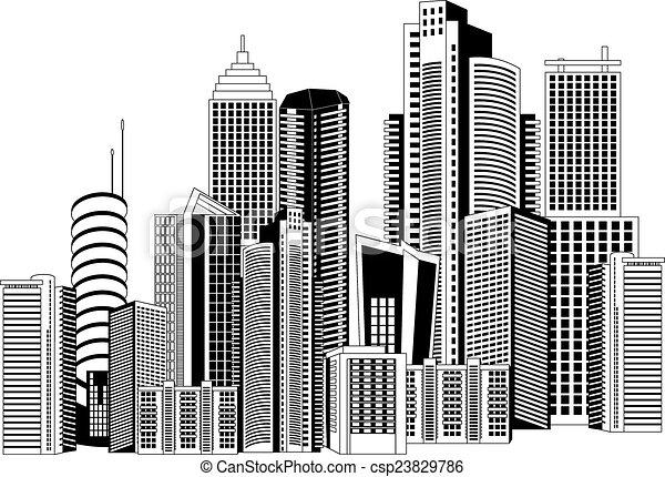 Modern city - csp23829786
