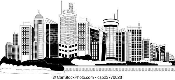 Modern city metropolis - csp23770028