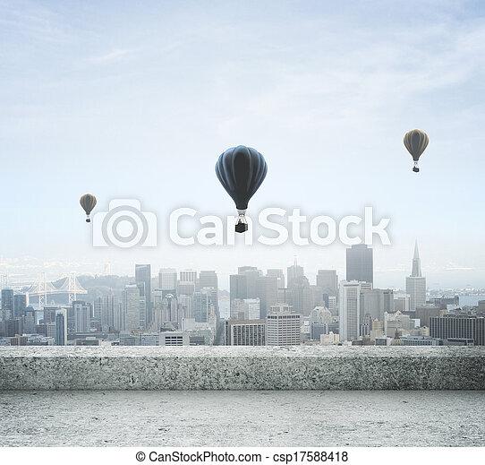 modern city - csp17588418