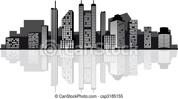 Modern city skyline - csp3185155