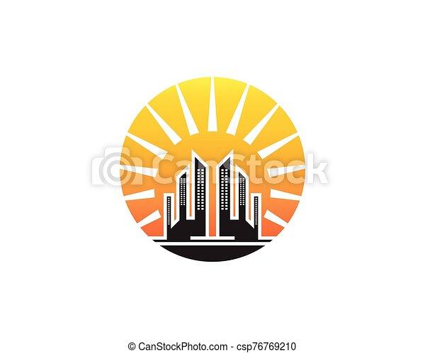 Modern city skyline - csp76769210