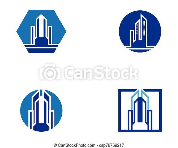 Modern city skyline - csp76769217