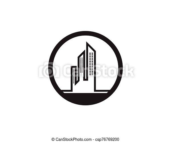 Modern city skyline - csp76769200