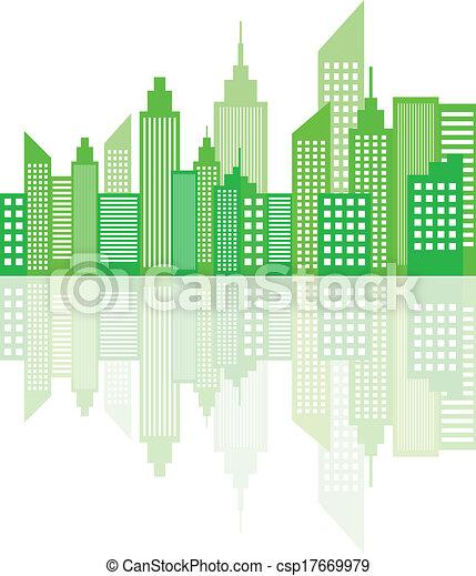 Modern City Skyscrapers Skyline - csp17669979