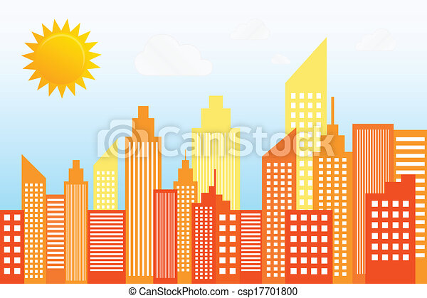 Modern City Skyscrapers Skyline - csp17701800