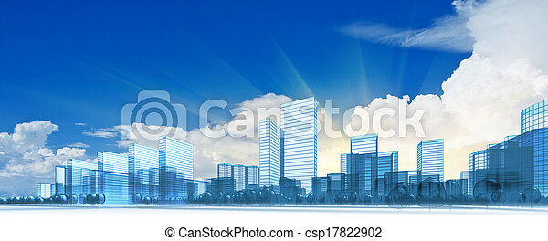 Modern city - csp17822902