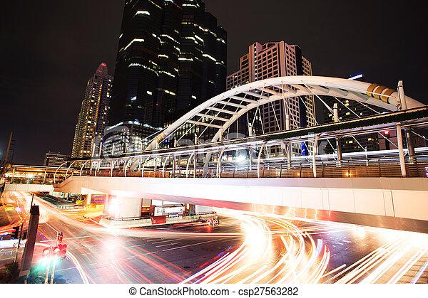 modern city traffic trails - csp27563282
