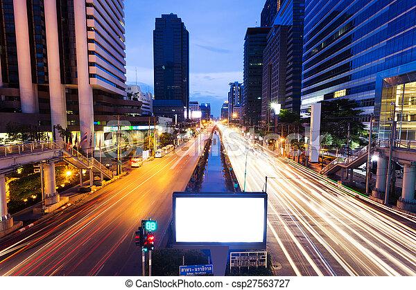 modern city traffic trails - csp27563727
