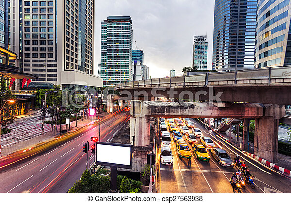 modern city traffic trails - csp27563938