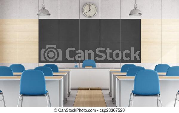 Modern Classroom Stock Illustration