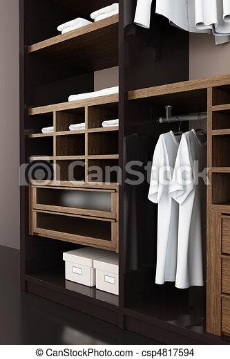 modern closet 3d rendering - csp4817594