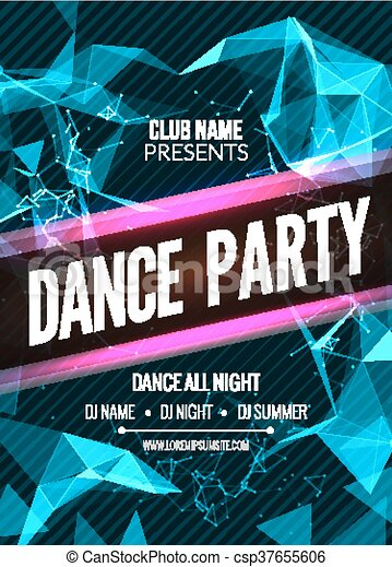 Modern Club Music Party Template Dance Party Flyer  Vector