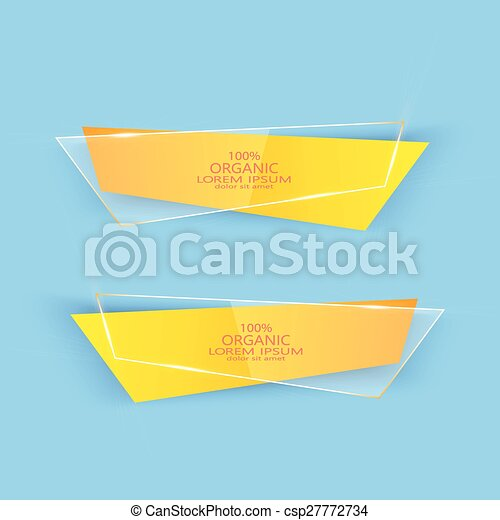 Modern Colorful Set Of Vector Banners For Your Design - csp27772734
