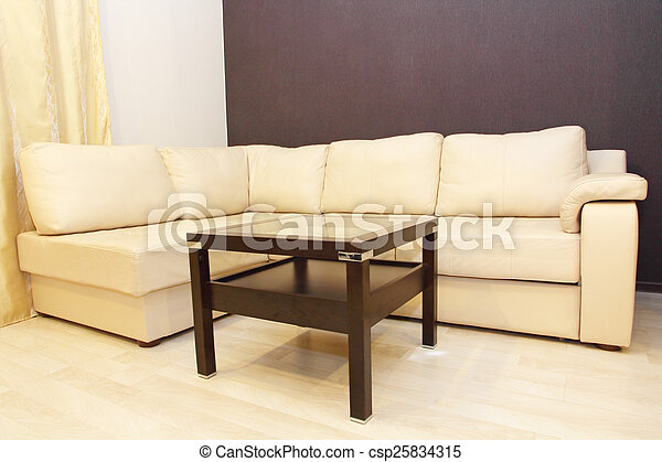 Super Modern Comfortable White Corner Leather Sofa And Coffee Table Pabps2019 Chair Design Images Pabps2019Com