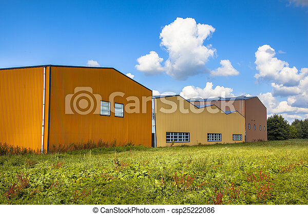 colorful contemporary modern industrial. Modern Commercial Buildings In A Newly Devoloped Industrial Area -  Csp25222086 Colorful Contemporary Modern E