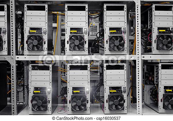 Modern computer cases in a data center - csp16030537