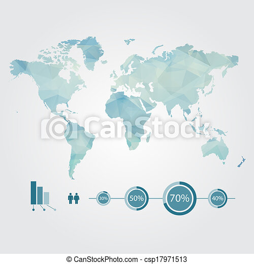 Modern concept of world map with infographics elements vector clip modern concept of world map with infographic vector gumiabroncs Images