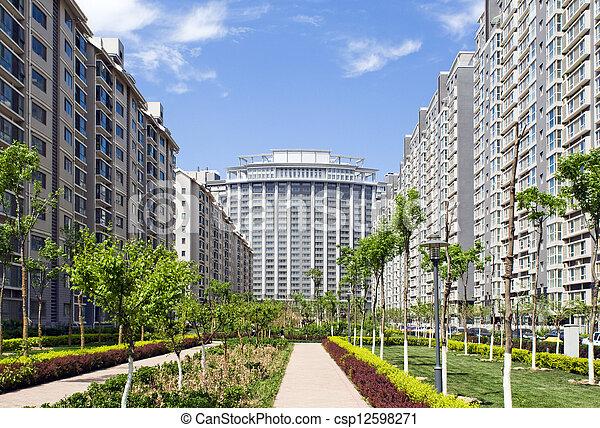 Modern Condominium Towers - csp12598271