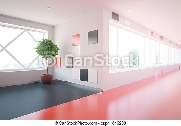 Modern corridor side - csp41846283