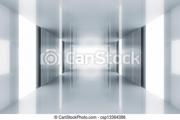 Modern corridor  - csp13364386