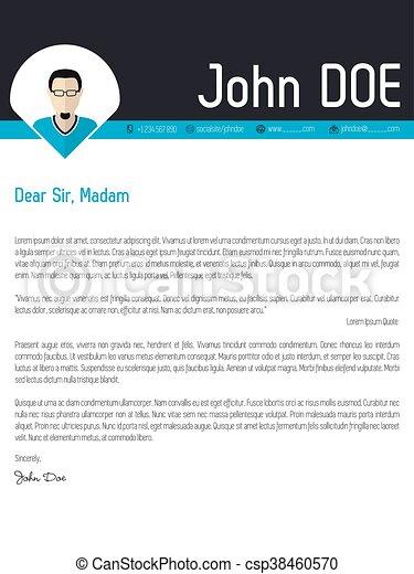 Modern Cover Letter Resume Cv Template