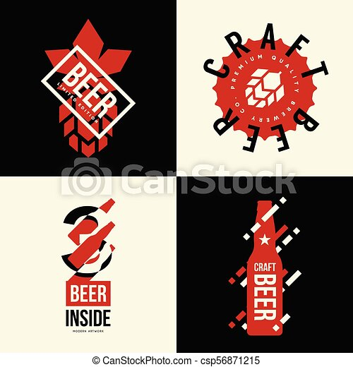 Hervorragend Good Modern Craft Beer Drink Vector Isolated Logo Sign For Bar Pub Brewery  Or Brewhouse Premium Quality Bottle Logotype Tee Print Badge Brewing With  Moderne ...