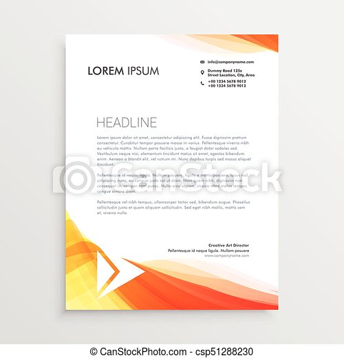 Modern creative letterhead design template vector modern creative letterhead design template vector spiritdancerdesigns Image collections