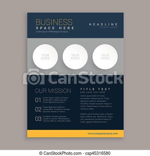 modern dark brochure design in simple geometric shapes