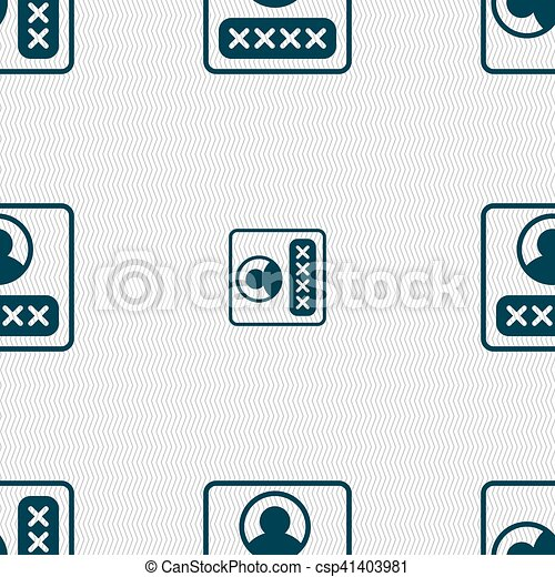 modern depicting a login icon sign seamless pattern with geometric