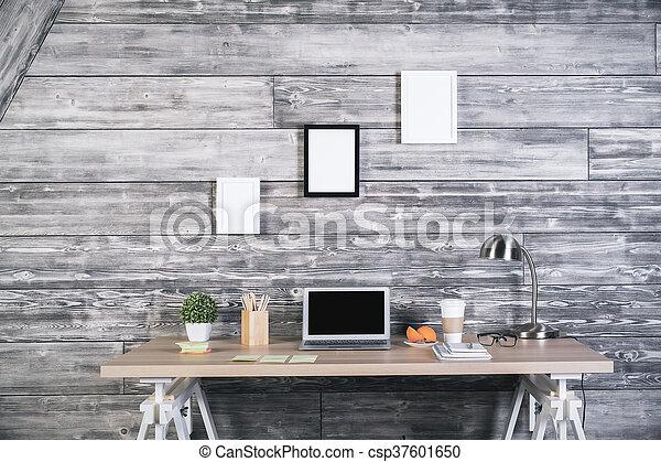 Modern designer workspace - csp37601650