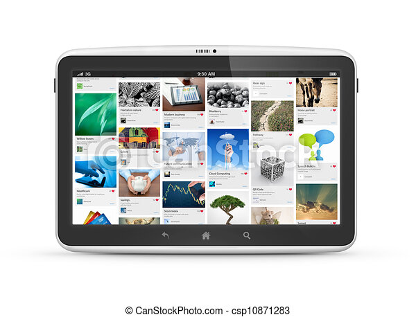 Modern digital tablet computer isolated - csp10871283