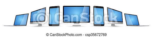 Modern digital tech device collection - csp35672769