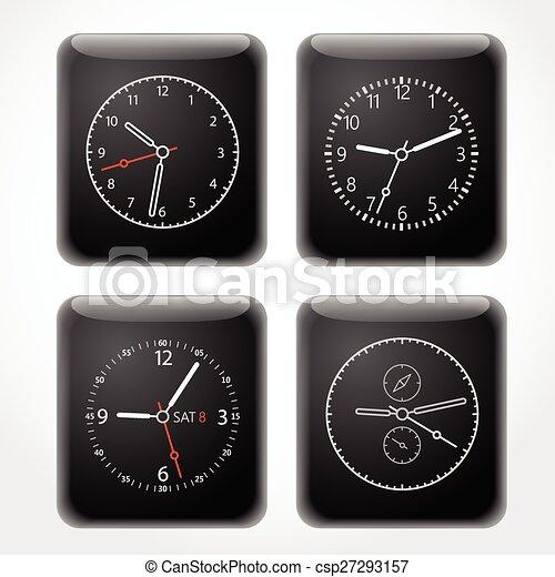 Modern digital watch dials template - csp27293157