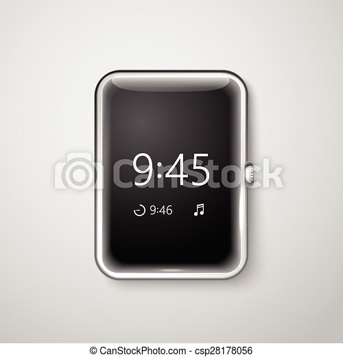 Modern digital watches template. Place your content into the screen - csp28178056