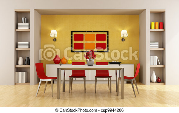 Modern Dining Room   Csp9944206