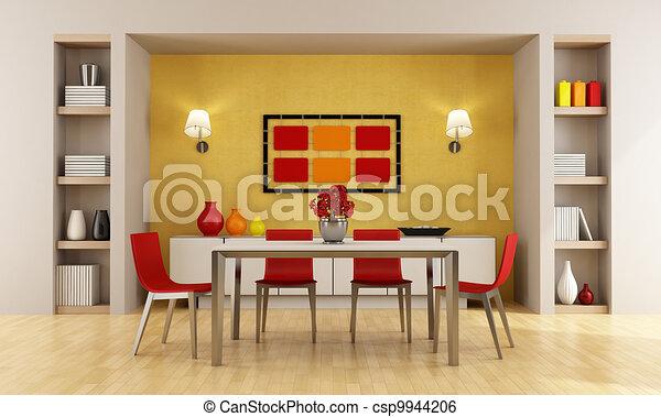 Captivating Modern Dining Room   Csp9944206