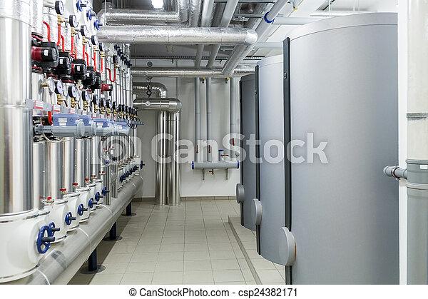 Modern efficient heating system. - csp24382171