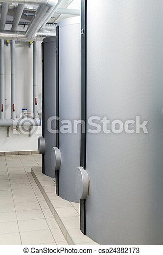 Modern efficient heating system. - csp24382173