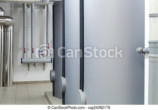 Modern efficient heating system. - csp24382179