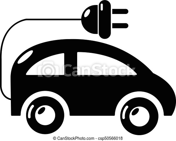 Modern Electric Car Icon Simple Style Vector Illustration Csp50566018