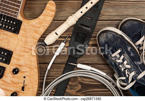 Modern electric guitar - csp26871340