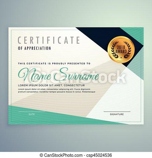 modern elegant certificate design with geometric shapes