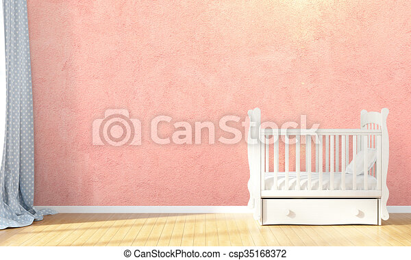 Modern empty children's room . 3D render - csp35168372